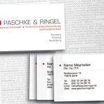 Visitenkartendesign Ingenieurbüro Berlin, Paschke-Ringel
