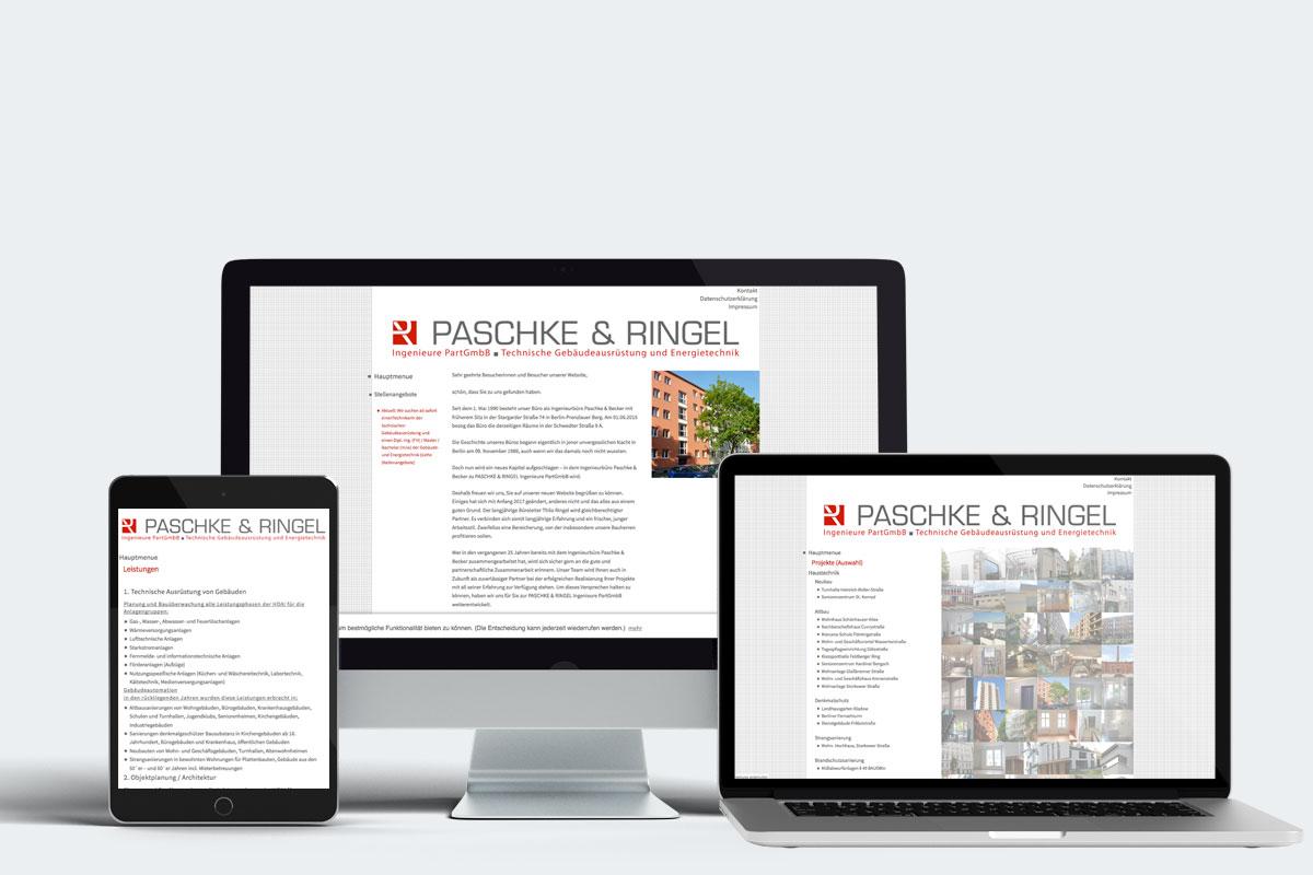 Webdesign, Ingenieurbüro Berlin, Paschke & Ringel
