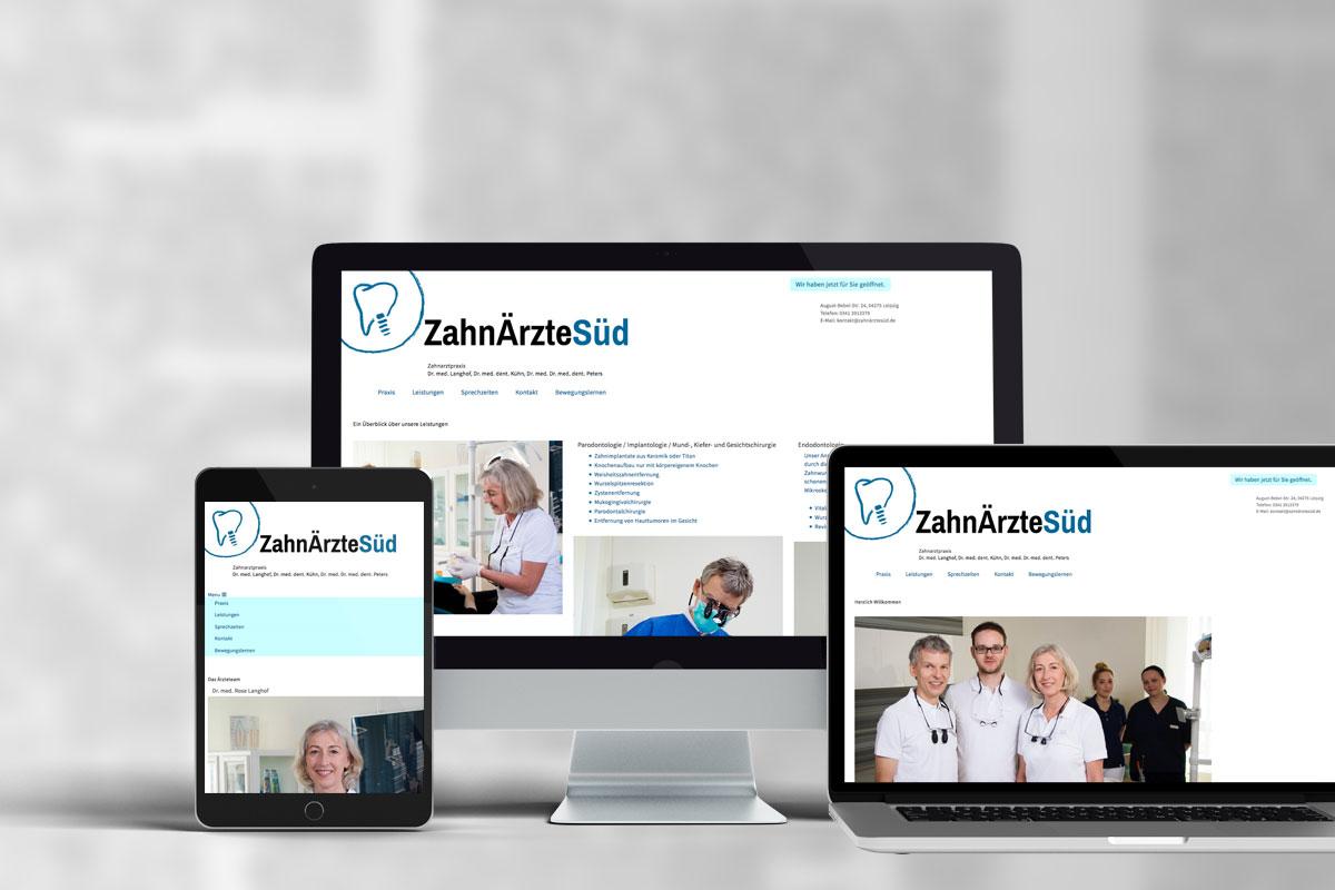Webdesign, ZahnÄrzteSüd in Leipzig