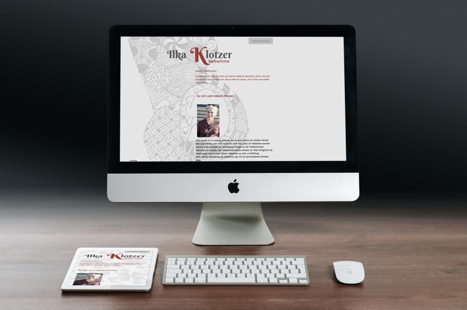 Webdesign, Hebamme Leipzig, Ilka Klotzer