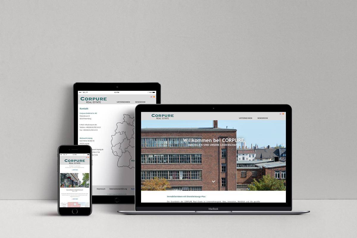 Webdesign, Real Estate, Corpure